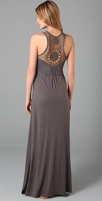 C&C California Crochet Maxi Dress