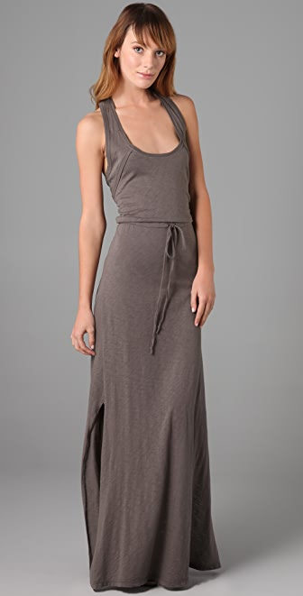 C&C California Racer Back Long Dress