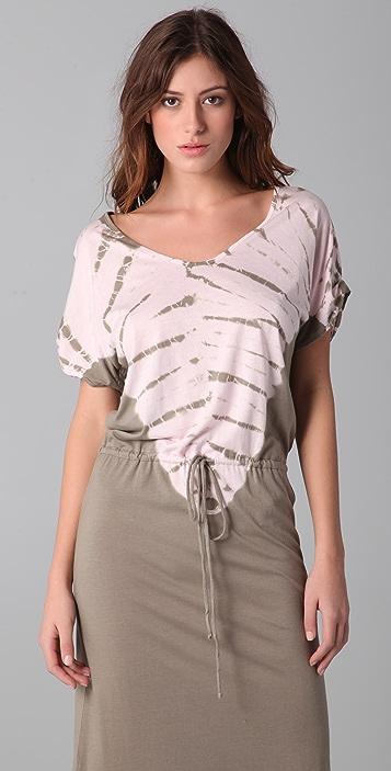 C&C California Tabard Tie Dye Maxi Dress