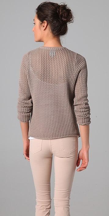 C&C California Long Sleeve Scoop Neck Mesh Sweater