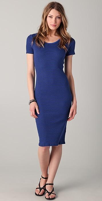 C&C California Short Sleeve Midi Dress