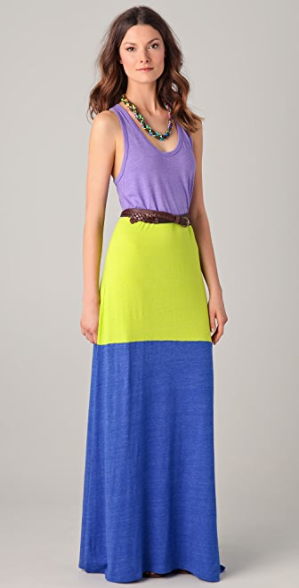 C&C California Colorblock Maxi Tank Dress