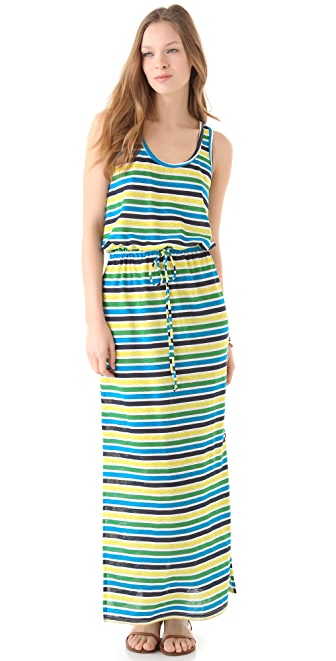 C&C California Striped Tank Maxi Dress