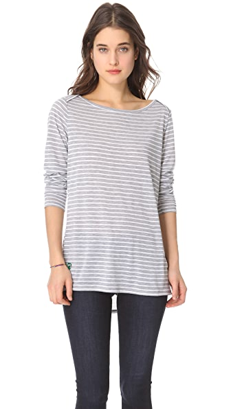 C&C California Long Sleeve Boat Neck Tunic