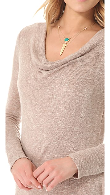 C&C California Long Sleeve Cowl Top