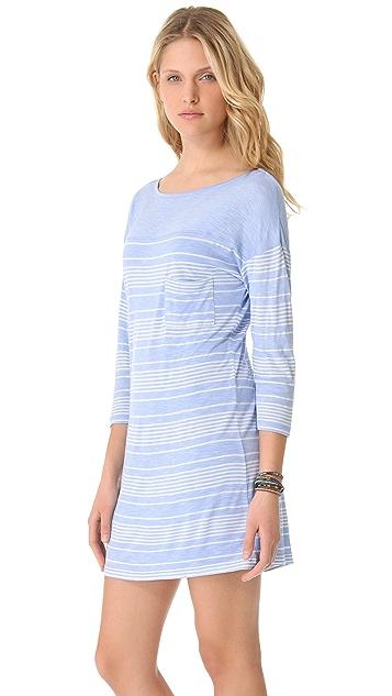 C&C California 3/4 Sleeve Boat Neck Dress