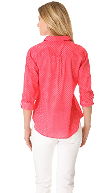 C&C California Roll Sleeve Polka Dot Shirt