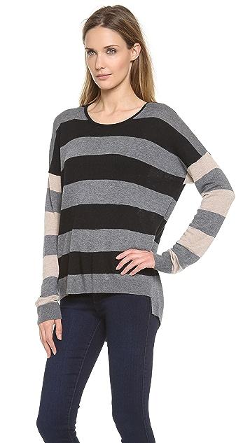 C&C California Hi / Lo Mix Stripe Sweater