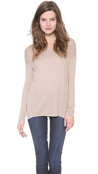 C&C California Long Sleeve High Low Sweater