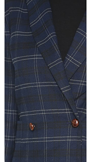 Capulet Plaid Double Breasted Blazer