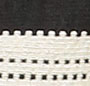 Black/White Stripe Jacquard