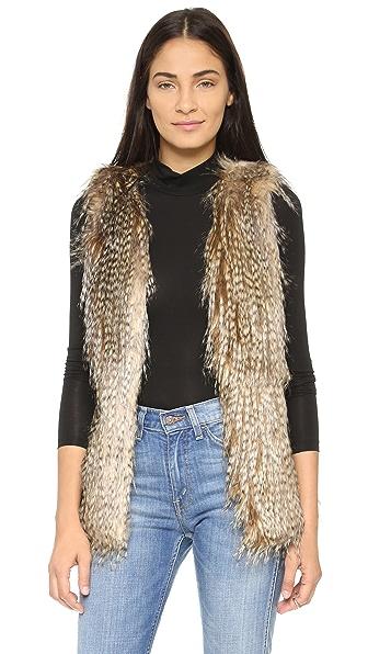 Capulet Faux Feather Vest