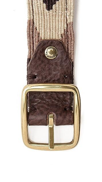 Caputo & Co. Reversible Chevron / Leather Belt