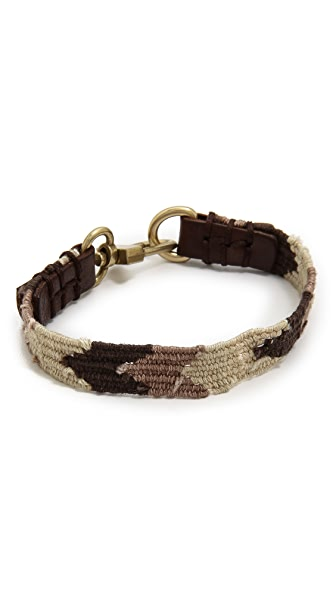 Caputo & Co. Handwoven Ribbon Bracelet