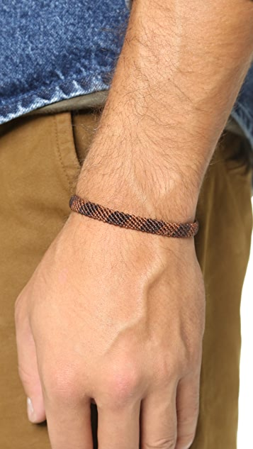 Caputo & Co. Hand Knotted Rugby Bracelet