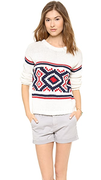 Cardigan Genevieve Crew Neck Sweater