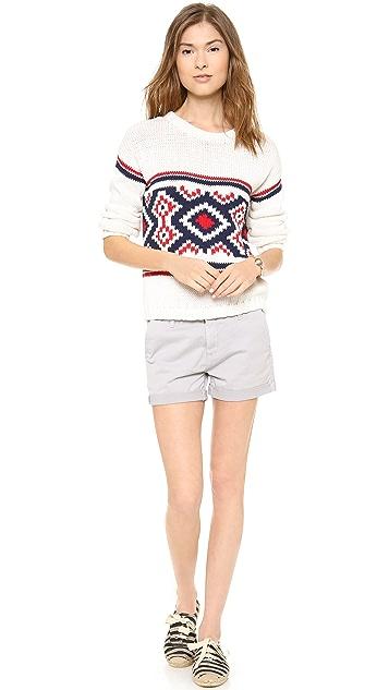 Cardigan Genevieve Crew Neck Sweater
