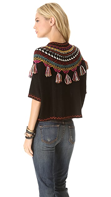 Carolina K Guate Fringe Sweater