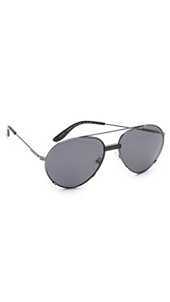 Carrera Metal Aviator Sunglasses with Interchangeable Lenses