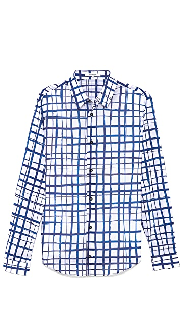 Carven Marker Check Sport Shirt