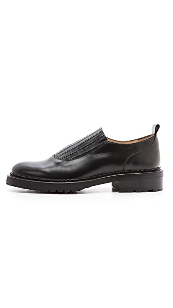 Carven Pull Leather Elastic Shoes