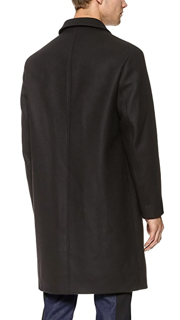 Carven Double Breasted Felt Overcoat