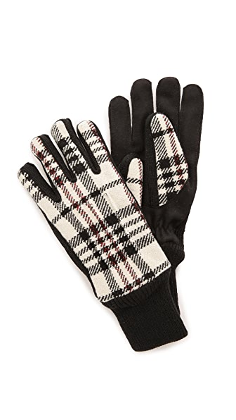 Carven Plaid Gloves