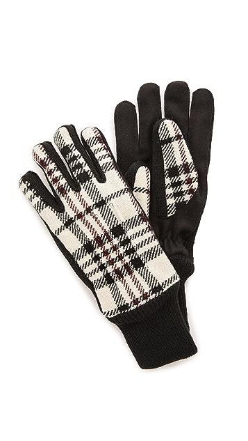 Carven Plaid Gloves