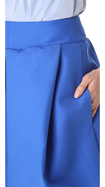 Carven Inset Pleat Skirt