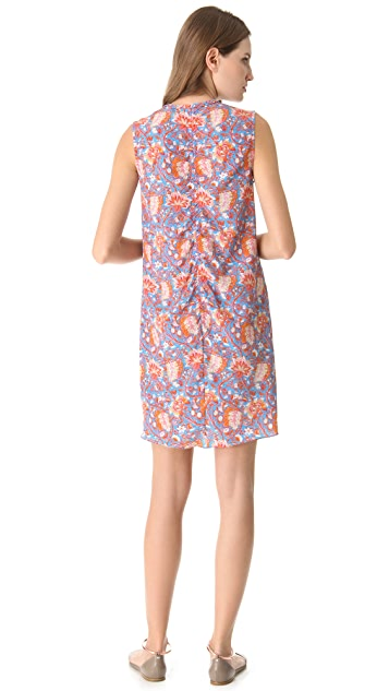 Carven Floral Tie Front Dress