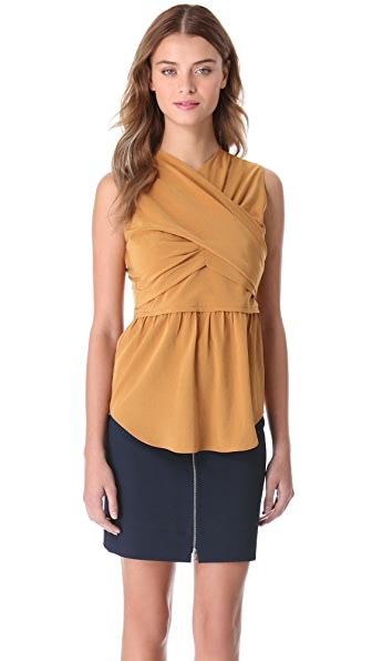 Carven Sleeveless Crossover Top
