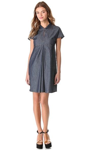 Carven Chambray Polo Dress