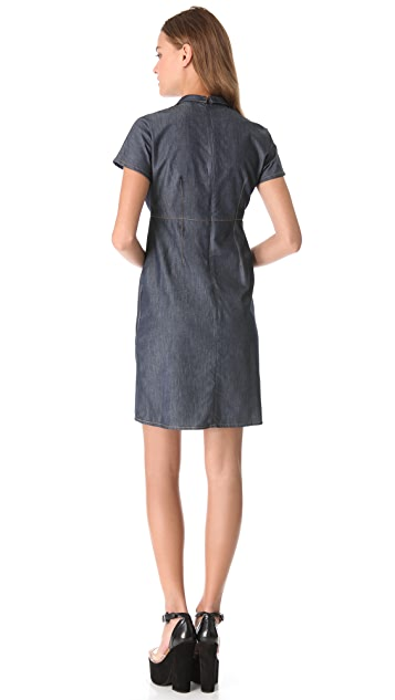 Carven Chambray Polo Dress
