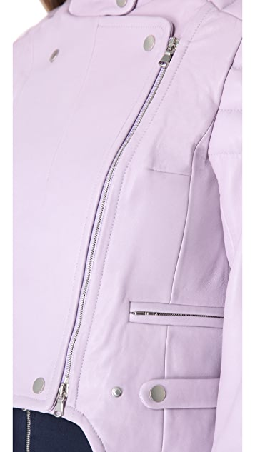 Carven Shaped Leather Jacket