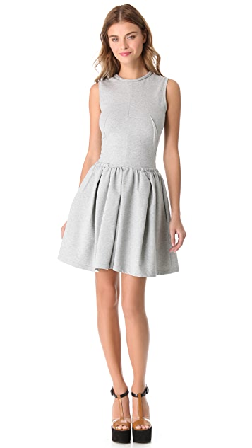 Carven Sleeveless Dress with Full Skirt