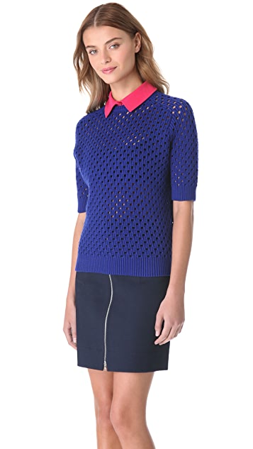 Carven Seed Knit Dickey Sweater