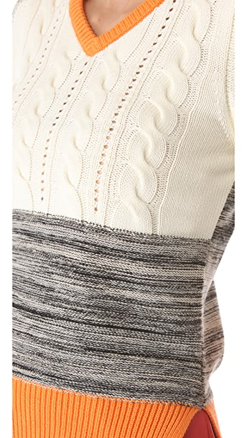 Carven V Neck Sweater