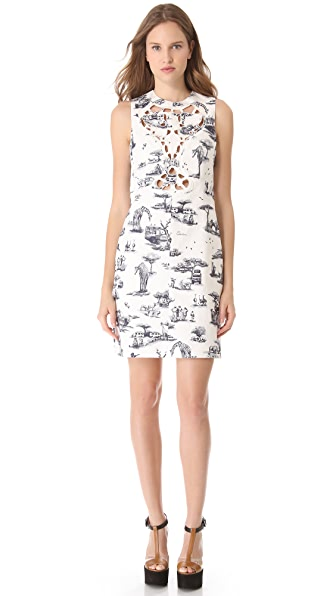 Carven Sleeveless Cutout Safari Dress