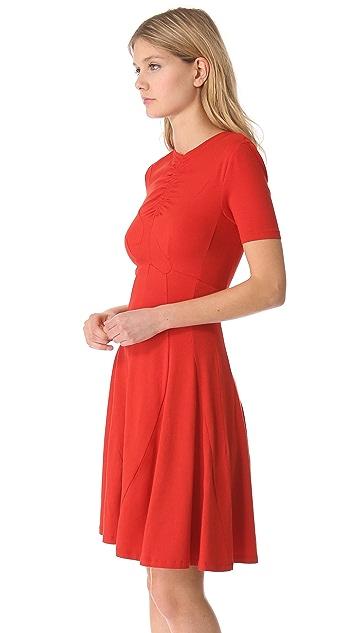 Carven Short Sleeve Jersey Dress