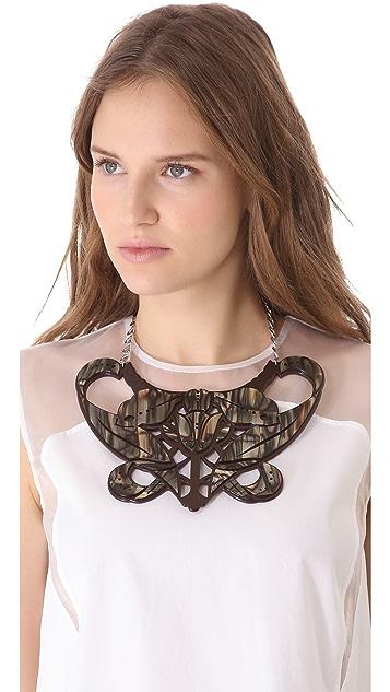 Carven Plexi Bib Necklace