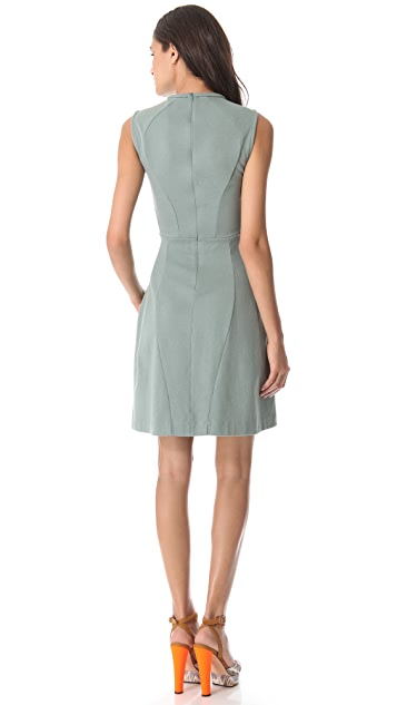 Carven Sleeveless Embroidered Dress