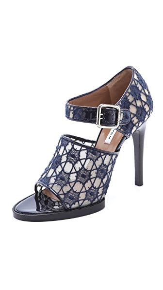 Carven Lace and Patent Sandals