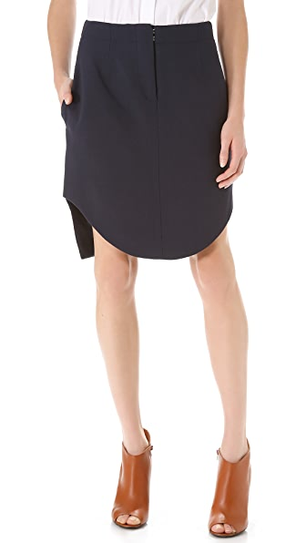 Carven Cut Hem Skirt