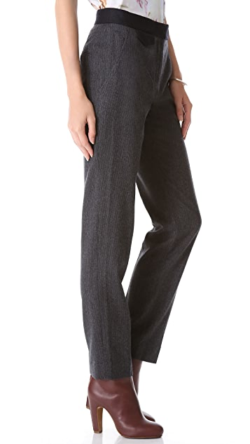 Carven Striped Flannel Pants