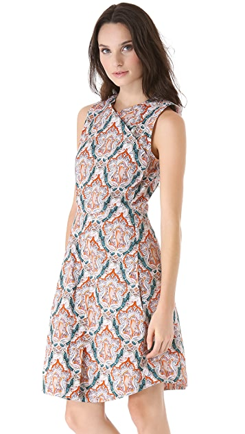 Carven Print Sleeveless Dress