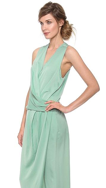 Carven Fluid Satin Sleeveless Dress