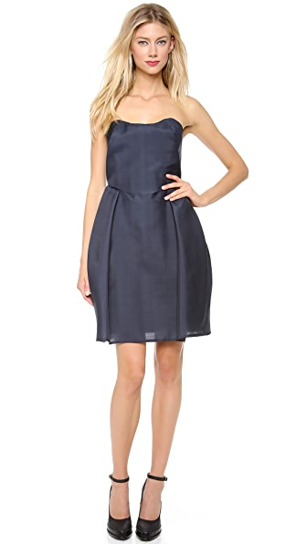 Carven Strapless Wool Dress