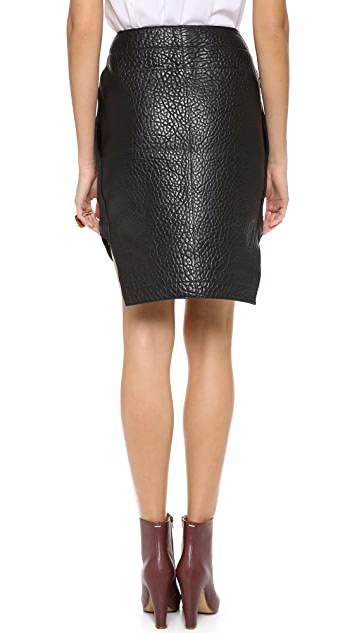 Carven Leather Skirt