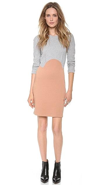 Carven Colorblock Long Sleeve Dress