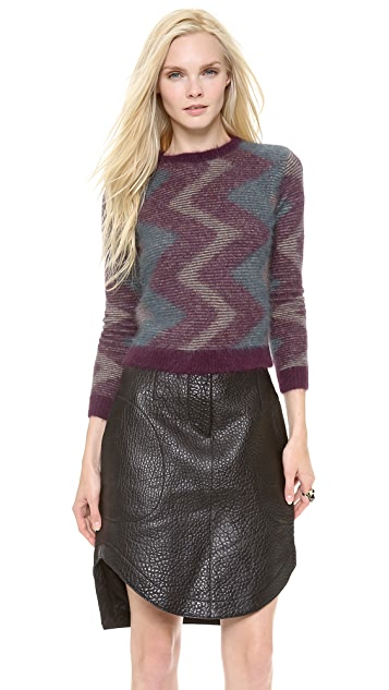 Carven Zigzag Angora Sweater